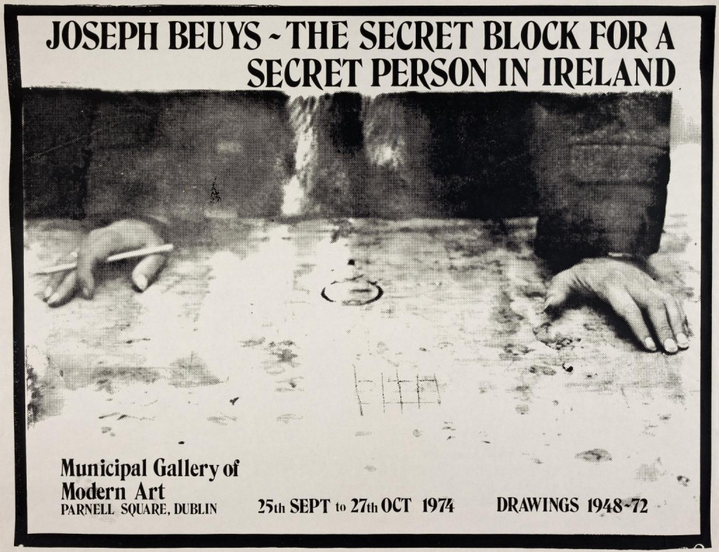 Joseph Beuys: The Secret Block for A Secret Person in Ireland. Municipal Gallery of Modern Art, Dublin 1974 by Joseph Beuys 1921-1986